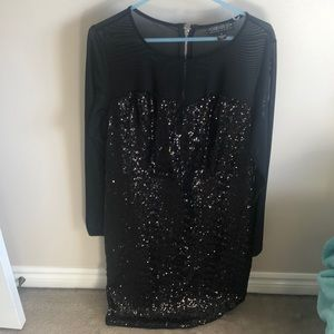 Black sequin forever 21 dress